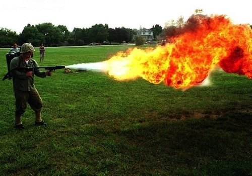 1. Flamethrower